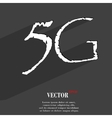 5G icon symbol Flat modern web design with long vector image