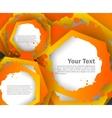 Abstract colorful background with hexagons vector image vector image
