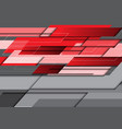 abstract red gray overlap technology vector image vector image