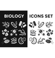 Bacteria virus black and white icons set vector image