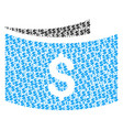 banknotes composition of dollar and dots vector image