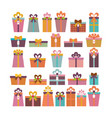 birthday surprise set different gift boxes vector image vector image