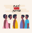 black lives matter group african profile stop