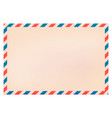 blank new envelope with red and blue striped vector image
