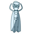 blue shading silhouette of faceless superhero male vector image vector image
