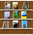 Bookshelf with books vector | Price: 1 Credit (USD $1)