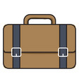 brown bag on white background vector image vector image