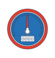 car speedometer interface dashboard panel for vector image vector image