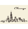 Chicago skyline vintage drawn sketch vector image vector image