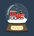Christmas train in snowball