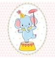 Circus card design vector image