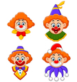Clowns head collection vector image