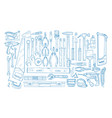 collection of manual and powered electric tools vector image vector image