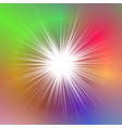 colorful abstract dynamic blurred ray background vector image vector image