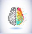 creative part and logic brain part vector image