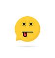 dead emoji speech bubble logo vector image vector image
