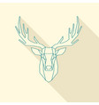 deer frame vector image vector image