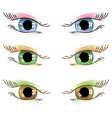 drawn eyes vector image vector image
