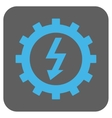 Electric Energy Cog Wheel Rounded Square vector image