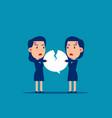 fighting over speech bubble quarrel between vector image vector image