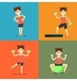 Fitness girl doing exercise set vector image vector image