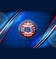 flag of usa background vector image vector image