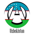 flag of uzbekistan of the world in the form of a vector image vector image