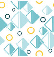 geometric triangle and circle shapes vector image vector image