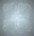 glass infographic transparent glass plates vector image vector image