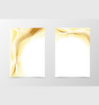 Gold flyer template design vector image vector image