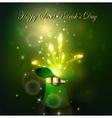 Golden firework in green hat vector image
