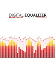 Graphic equalizer background vector image vector image