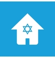 House with star symbol vector image