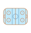 Ice hockey field vector image