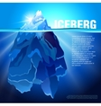 Iceberg in water realistic background vector image vector image