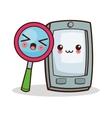 Isolated kawaii smartphone design vector image vector image