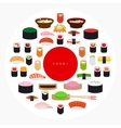 Japanese food sushi poster vector image vector image