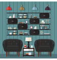 living room design ideas vector image vector image