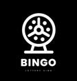 lottery bingo with machine and balls vector image vector image