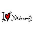 love yokohama vector image