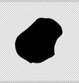 map nauru isolated black on vector image vector image
