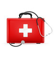 medical first aid box case kit stock vector image