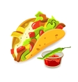 Mexican Food Taco Concept vector image