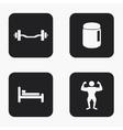 modern sport icons set vector image
