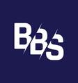 monogram letters initial logo design bbs