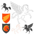 Pegasus And Horse vector image