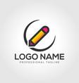 pencil logo template vector image