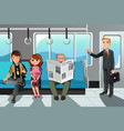 people riding train vector image
