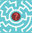 question mark inside maze vector image vector image