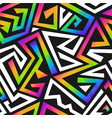 rainbow color graffiti seamless pattern vector image